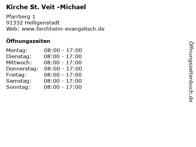 Kirche St. Veit -Michael in Heiligenstadt: Adresse und Öffnungszeiten