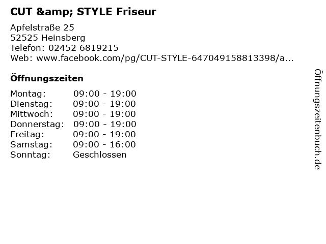 CUT & STYLE Friseur in Heinsberg: Adresse und Öffnungszeiten