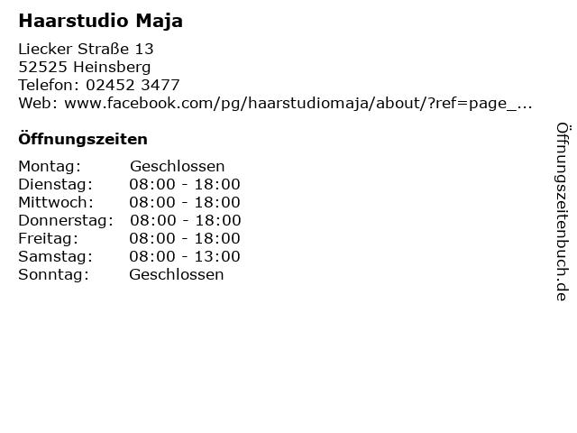 Haarstudio Maja in Heinsberg: Adresse und Öffnungszeiten