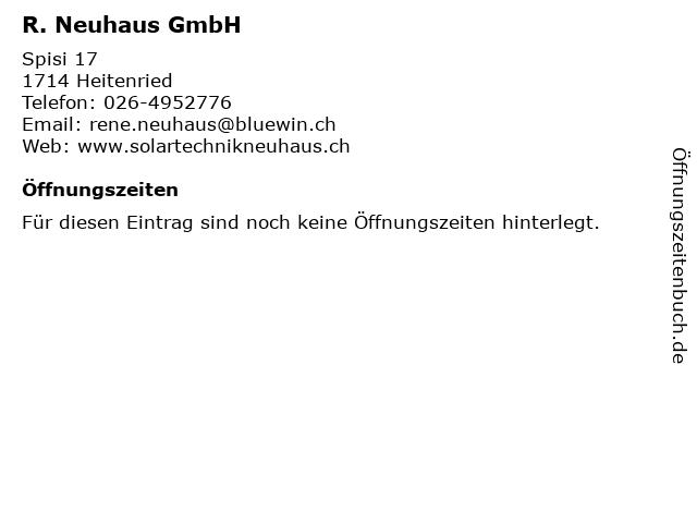 R. Neuhaus GmbH in Heitenried: Adresse und Öffnungszeiten