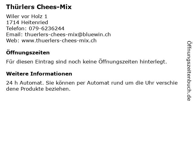 Thürlers Chees-Mix in Heitenried: Adresse und Öffnungszeiten