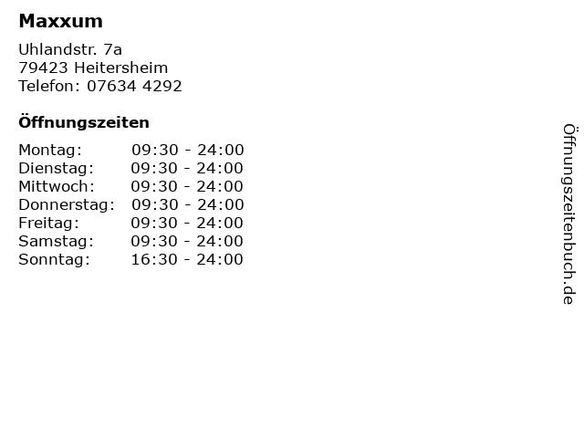 Maxxum in Heitersheim: Adresse und Öffnungszeiten