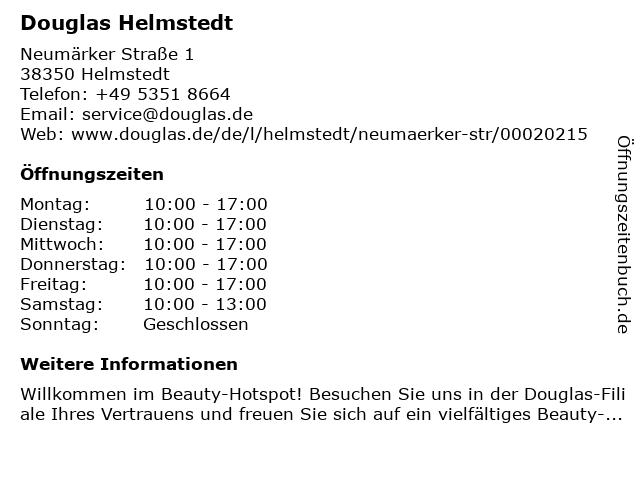 Parfümerie Douglas Helmstedt in Helmstedt: Adresse und Öffnungszeiten