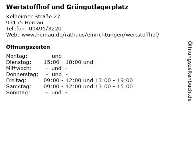 öffnungszeiten Wertstoffhof Regensburg