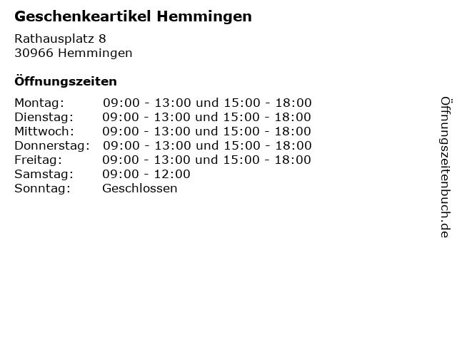 Geschenkeartikel Hemmingen in Hemmingen: Adresse und Öffnungszeiten