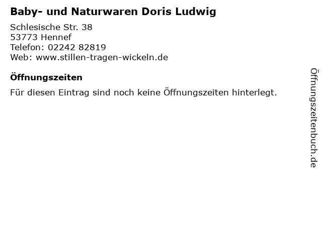 Baby- und Naturwaren Doris Ludwig in Hennef: Adresse und Öffnungszeiten