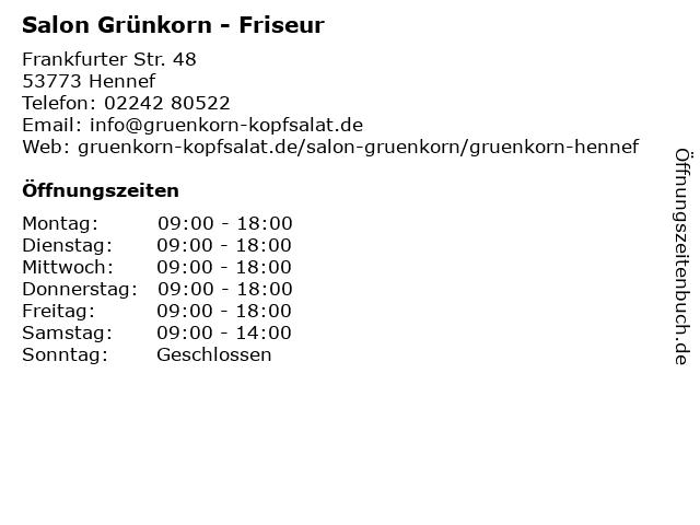 Friseur Grünkorn in Hennef: Adresse und Öffnungszeiten
