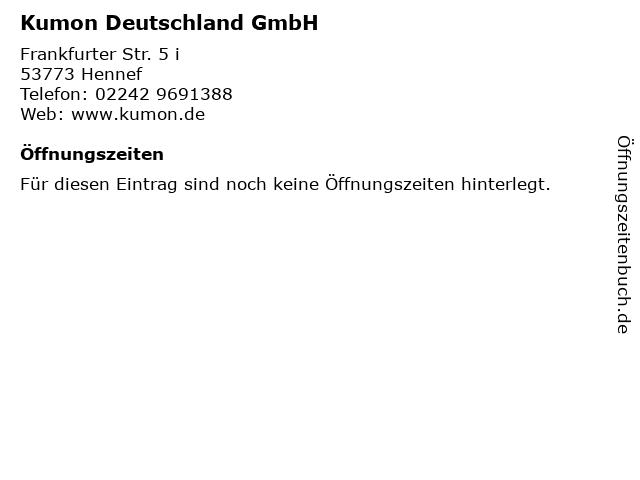 Kumon Deutschland GmbH in Hennef: Adresse und Öffnungszeiten