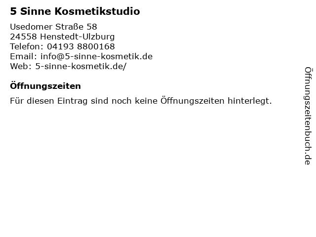 5 Sinne Kosmetikstudio in Henstedt-Ulzburg: Adresse und Öffnungszeiten