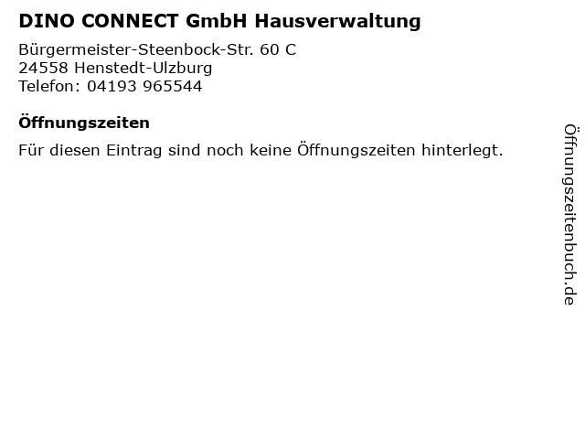 DINO CONNECT GmbH Hausverwaltung in Henstedt-Ulzburg: Adresse und Öffnungszeiten