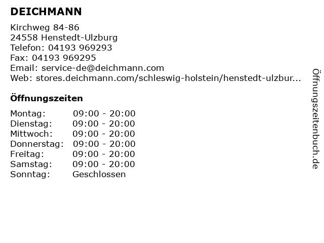 Deichmann in Henstedt-Ulzburg: Adresse und Öffnungszeiten
