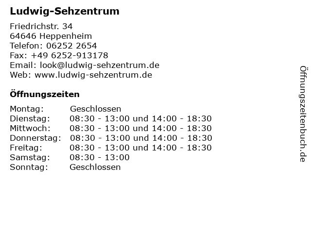 Ludwig-Sehzentrum in Heppenheim: Adresse und Öffnungszeiten