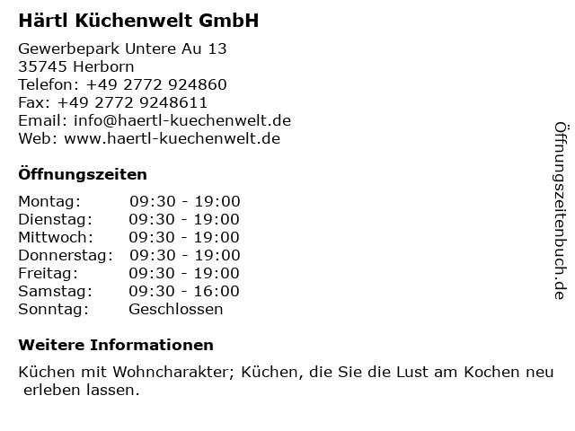 ᐅ Offnungszeiten Hartl Kuchenwelt Gmbh Gewerbepark Untere Au 13
