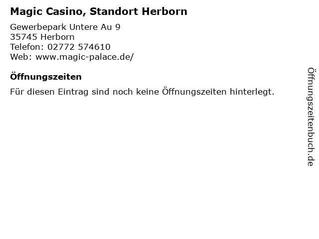 Magic Casino, Standort Herborn in Herborn: Adresse und Öffnungszeiten