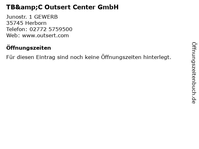 TB&C Outsert Center GmbH in Herborn: Adresse und Öffnungszeiten