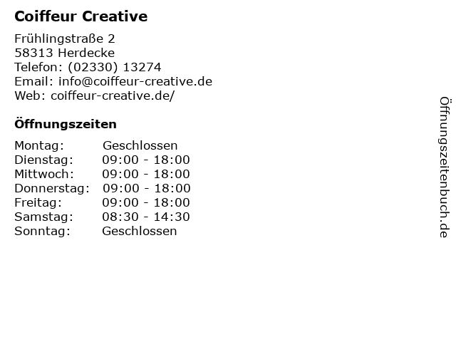 Beauty Coiffeur Kujtim Zeciri in Herdecke: Adresse und Öffnungszeiten