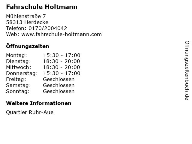 Fahrschule Holtmann in Herdecke: Adresse und Öffnungszeiten