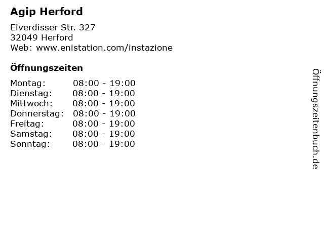 Agip Herford in Herford: Adresse und Öffnungszeiten