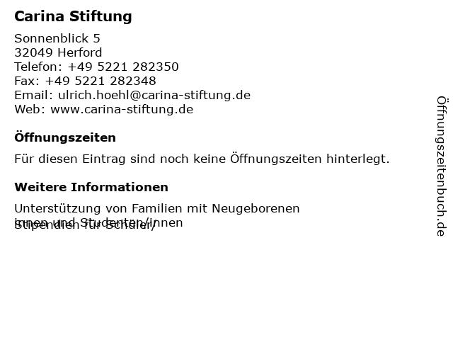 Carina Stiftung in Herford: Adresse und Öffnungszeiten