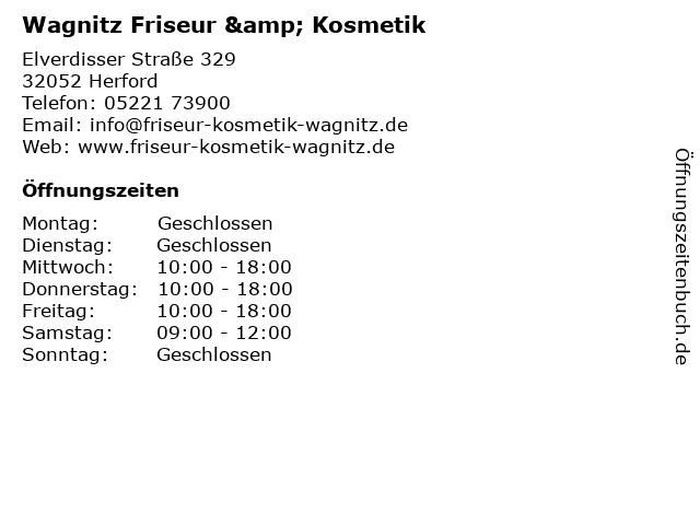 Wagnitz Friseur & Kosmetik in Herford: Adresse und Öffnungszeiten