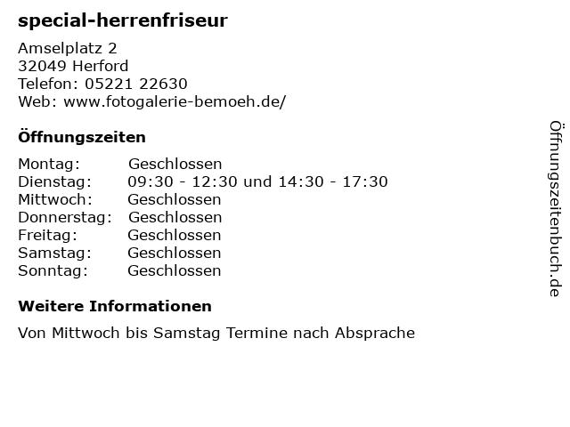special-herrenfriseur in Herford: Adresse und Öffnungszeiten