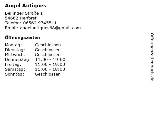 Angel Antiques in Herforst: Adresse und Öffnungszeiten