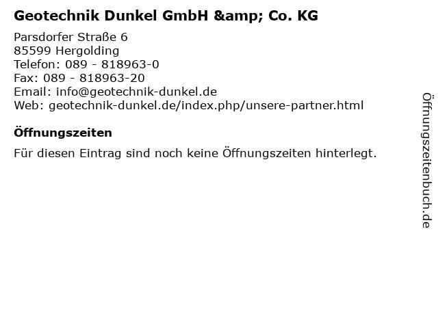 Geotechnik Dunkel GmbH & Co. KG in Hergolding: Adresse und Öffnungszeiten