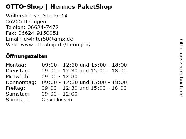 OTTO-Shop   Hermes PaketShop in Heringen: Adresse und Öffnungszeiten