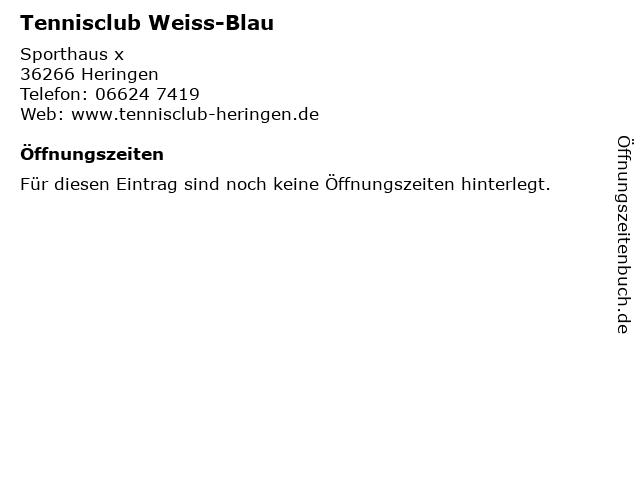 Tennisclub Weiss-Blau in Heringen: Adresse und Öffnungszeiten