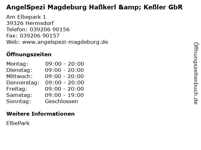 AngelSpezi Magdeburg Haßkerl & Keßler GbR in Hermsdorf: Adresse und Öffnungszeiten