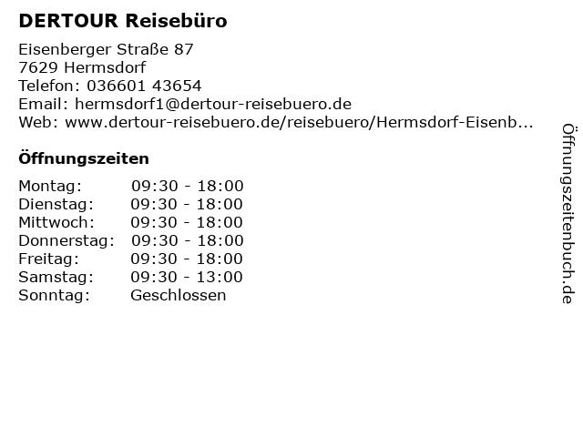 DER Deutsches Reisebüro in Hermsdorf: Adresse und Öffnungszeiten