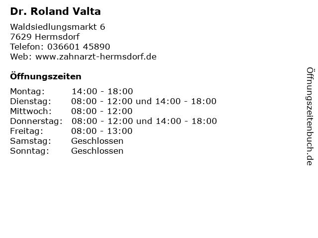 Dr. Roland Valta in Hermsdorf: Adresse und Öffnungszeiten