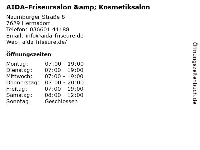 Friseursalon Haarcreation in Hermsdorf: Adresse und Öffnungszeiten