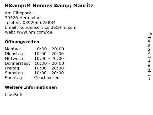 H&M Hennes & Mauritz in Hermsdorf: Adresse und Öffnungszeiten