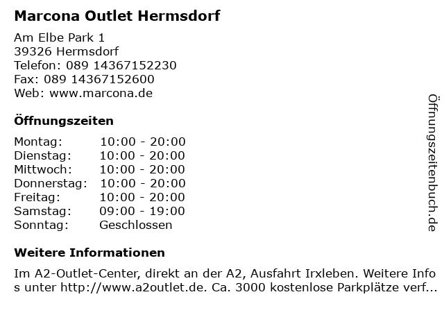 Marcona Outlet Hermsdorf in Hermsdorf: Adresse und Öffnungszeiten