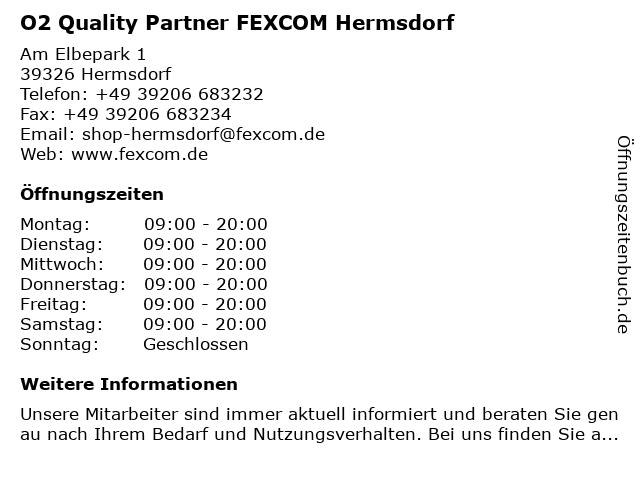 O2 Quality Partner FEXCOM Hermsdorf in Hermsdorf: Adresse und Öffnungszeiten