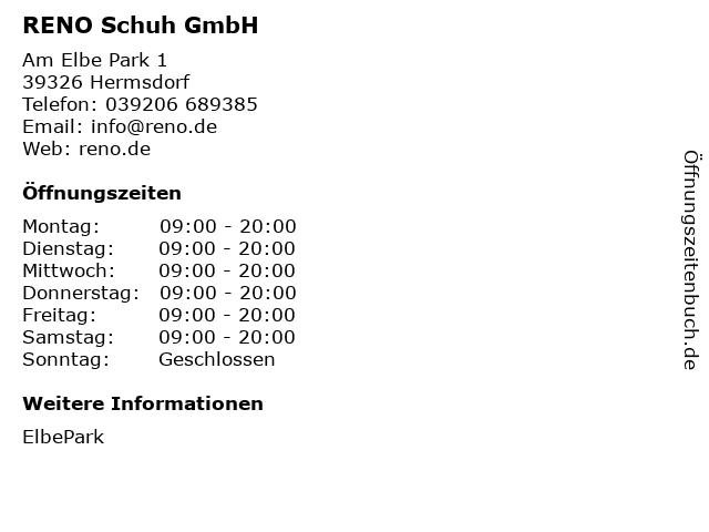RENO Schuh GmbH in Hermsdorf: Adresse und Öffnungszeiten