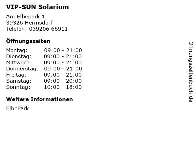 VIP-SUN Solarium in Hermsdorf: Adresse und Öffnungszeiten
