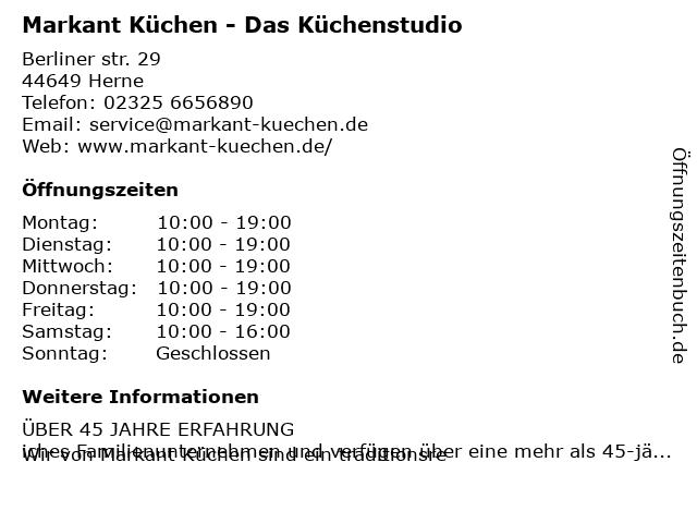 ᐅ Offnungszeiten Markant Kuchen Berliner Str 29 In Herne Wanne