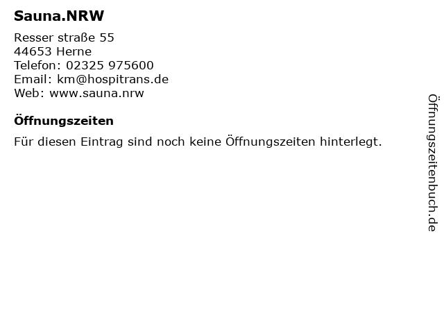 Sauna.NRW in Herne: Adresse und Öffnungszeiten
