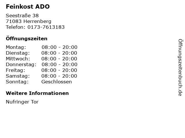 Feinkost ADO in Herrenberg: Adresse und Öffnungszeiten