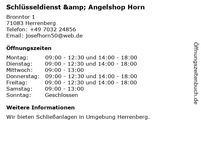 Horn Schlüsseldienst & Angelshop in Herrenberg: Adresse und Öffnungszeiten