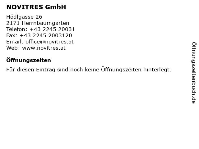 NOVITRES GmbH in Herrnbaumgarten: Adresse und Öffnungszeiten