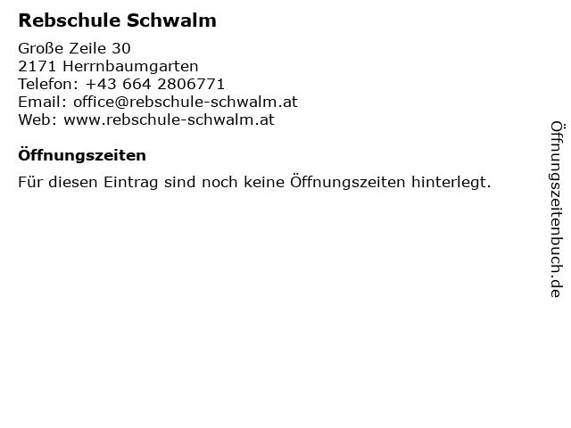 Rebschule Schwalm in Herrnbaumgarten: Adresse und Öffnungszeiten