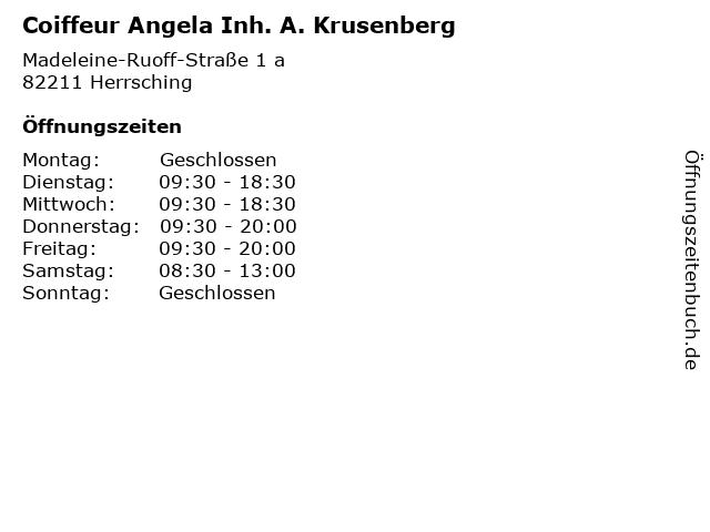 ᐅ Offnungszeiten Coiffeur Angela Inh A Krusenberg Madeleine