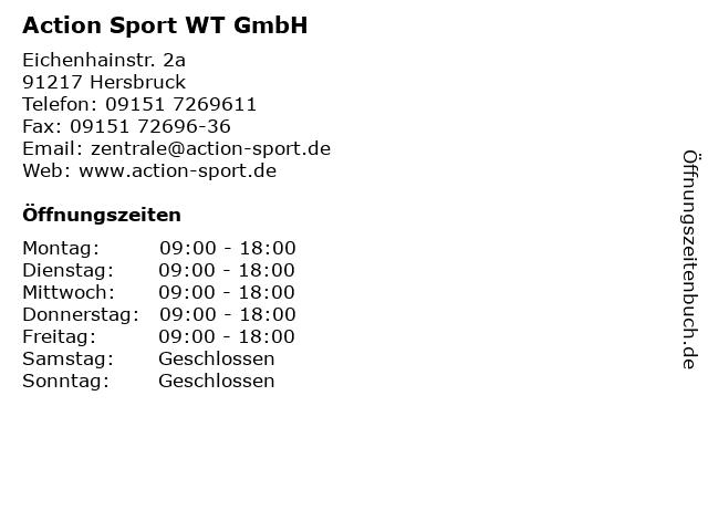 Action Sport WT GmbH in Hersbruck: Adresse und Öffnungszeiten