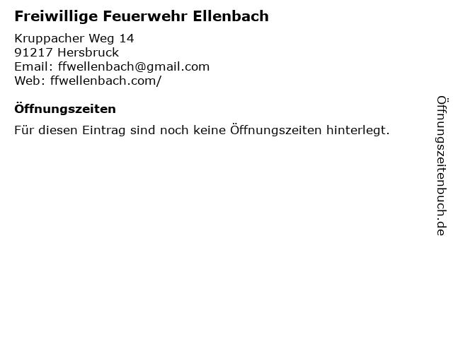 Freiwillige Feuerwehr Ellenbach in Hersbruck: Adresse und Öffnungszeiten