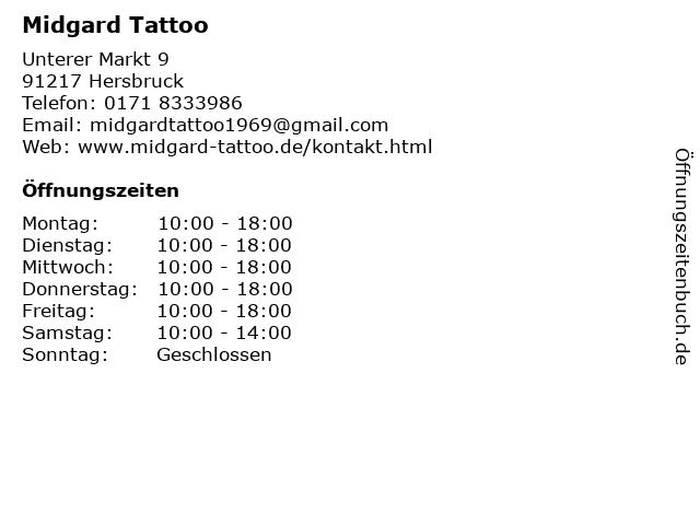Midgard Tattoo in Hersbruck: Adresse und Öffnungszeiten