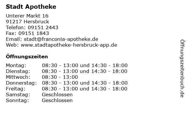 STADT APOTHEKE in Hersbruck: Adresse und Öffnungszeiten