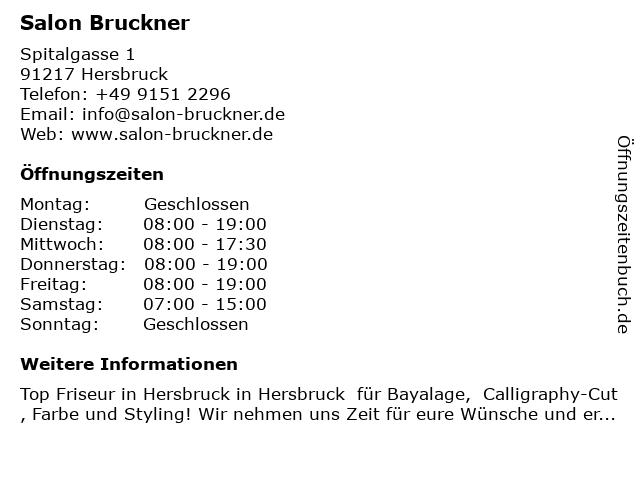Salon Bruckner in Hersbruck: Adresse und Öffnungszeiten
